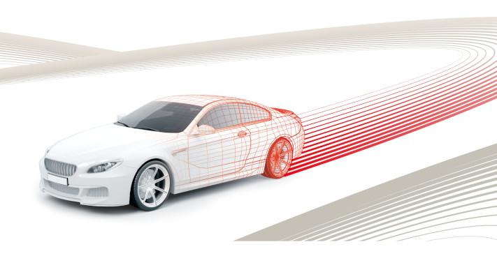 Grafik eines Autos